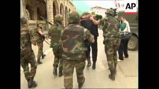 YUGOSLAVIA: PEC: KOSOVO: SERB HOUSES SET ALIGHT