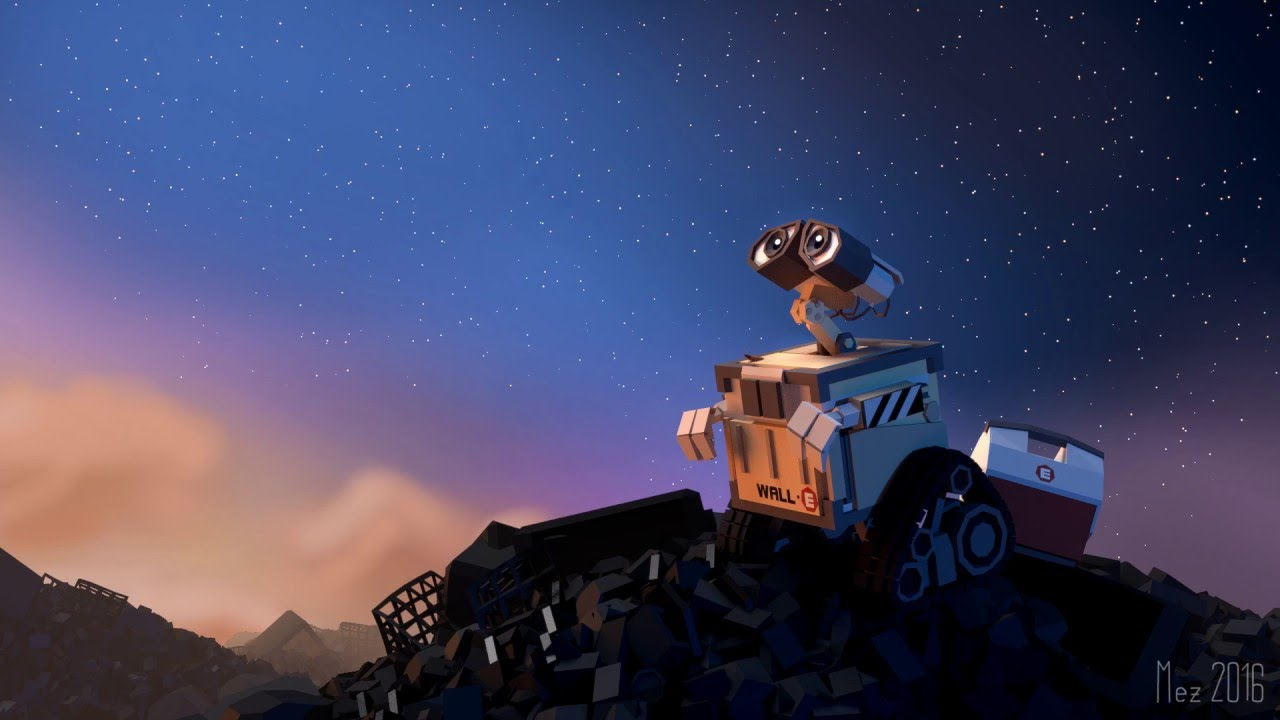 wall-e wallpaper [lowpoly][workflow] - youtube