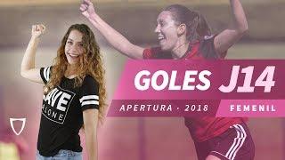 Todos los Goles Liga MX FEMENIL JORNADA 14 2018 - GOLAZO MIRIAM GARCIA