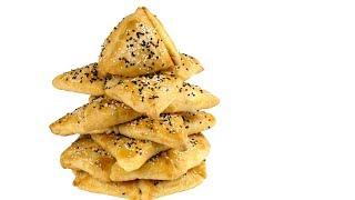 """""""Ёлка"""" из пирожков с тремя видами начинки из очень вкусного бездрожжевого теста."""