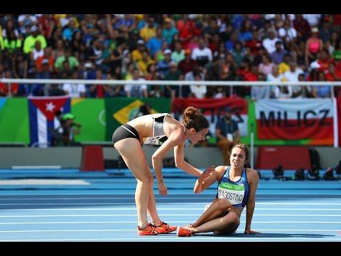 USA Runner Abbey D'Agostino Stops To Help Fallen Athlete Hamblin | Rio Olympics 2016 | Mango News