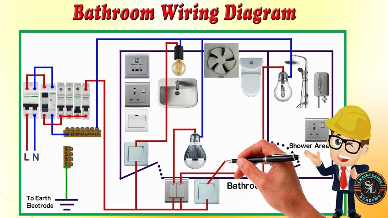 Bathroom Wiring Diagram / How to Wire a Bathroom - YouTube | Bathroom Wiring Diagrams For Lights |  | YouTube