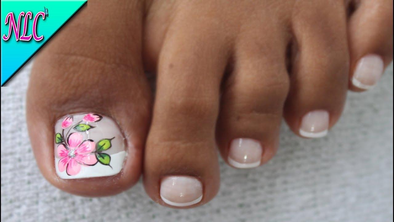 Decoracion De Unas Para Pies Flor Sencilla Flower Nail Art Nlc