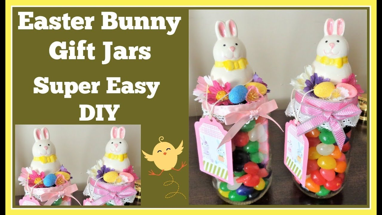 Easter bunny jar gift idea super easy diy youtube easter bunny jar gift idea super easy diy negle Image collections