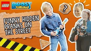 LEGO BOOST Video: Funny Hidden Pranks on the Street