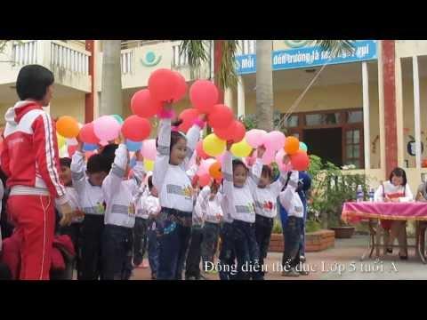 Đồng diễn thể dục lớp 5 tuổi A Trường mầm non Thuỵ Quỳnh 2013