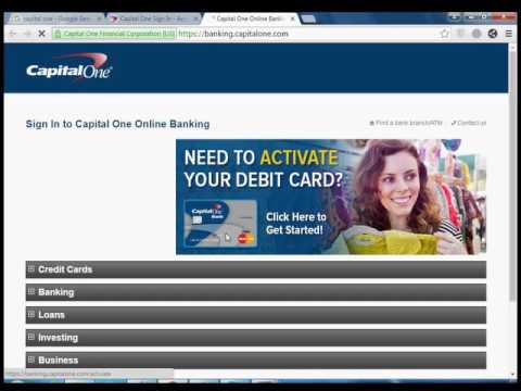 Can you activate a capital one credit card online