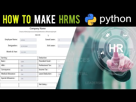 How To Make HR Payroll Employee Management Software In Python