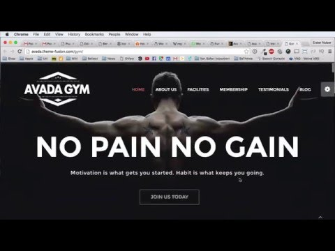Avada Theme WordPress Tutorial DEUTSCH