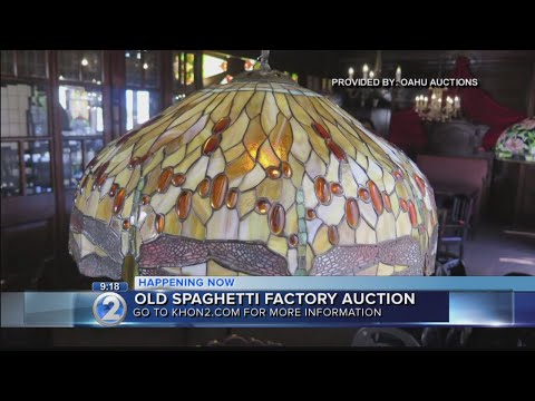 The Old Spaghetti Factory holds auction ahead of Aloha Tower move