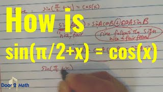 *how to verify trig identities sin(π/2+x) = cos(x)??