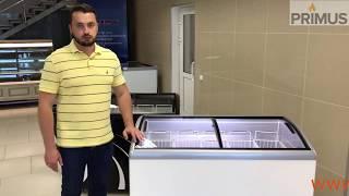Лари морозильные JUKA с гнутым стеклом (видео-обзор)