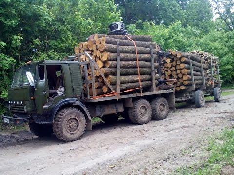 Камаз 4310 манипулятор лесовоз прицеп