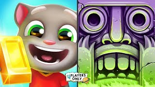 Talking Tom Gold Run [CANDY SIDE WORLD: Trick or Treat Time] VS Temple Run 2 [SIR MONTAGUE]