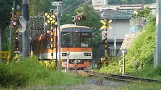 叡山電鉄 900系きらら 鞍馬線 市原駅付近通過