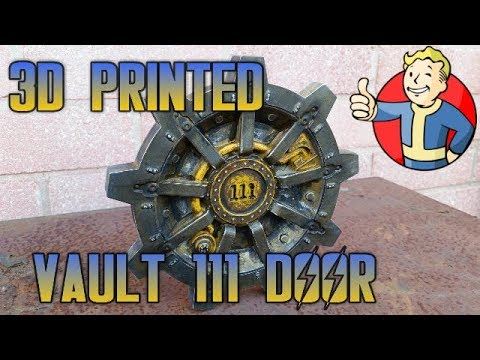 3D printed fallout 4 Vault 111 door [Timelapse] Thingiverse | Weathering & Rusting |