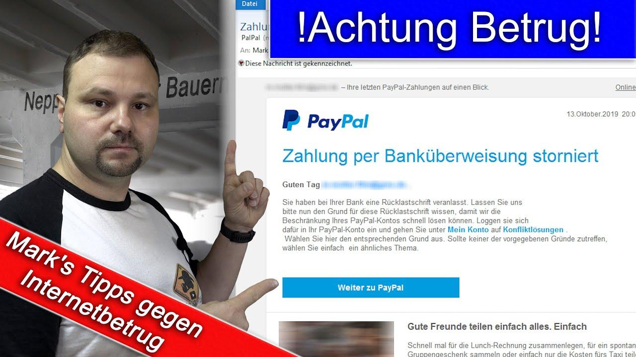 Paypal Banküberweisung