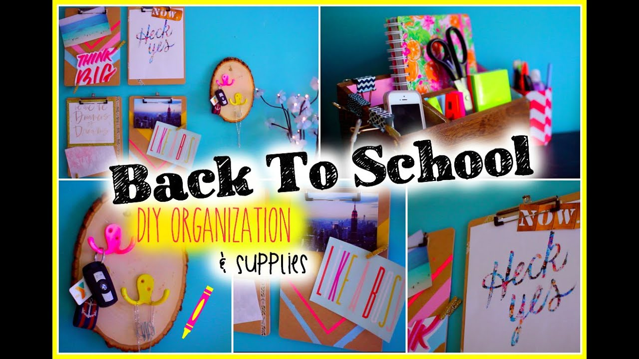 Back To School DIY Organization Amp Supplies