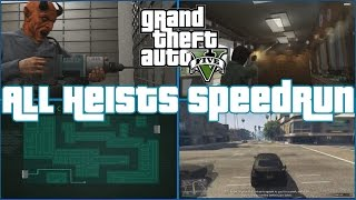 GTA All Heists Speedrun [4:30:55] - All Four Views!