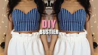 DIY | HOW TO MAKE A STRIPED SWEETHEART BUSTIER (pattern available)