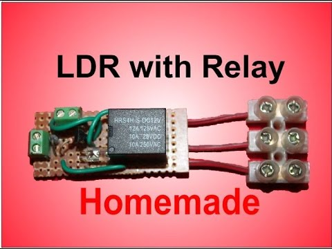 LDR with relay - YouTube