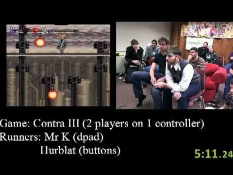 Contra III: The Alien Wars Speedrun (18:29) - AGDQ 2012