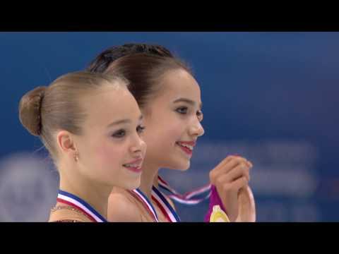 2016 ISU Junior Grand Prix Final - Marseille - Ladies Victory Ceremony