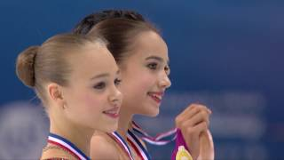 2016 ISU Junior Grand Prix Final - Marseille - Ladies Victory Ceremony