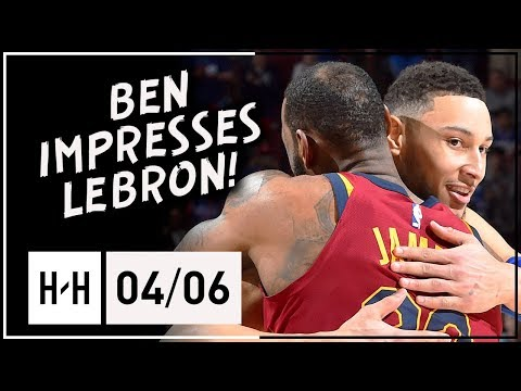 Ben Simmons IMPRESSES LeBron with Triple-Double, Full Highlights (2018.04.06) - 27 Pts 15 Reb 13 Ast