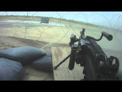 Canadian Soldiers firefight from camp