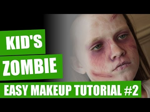 Halloween Makeup Tutorial - Kids Zombie Makeup #2