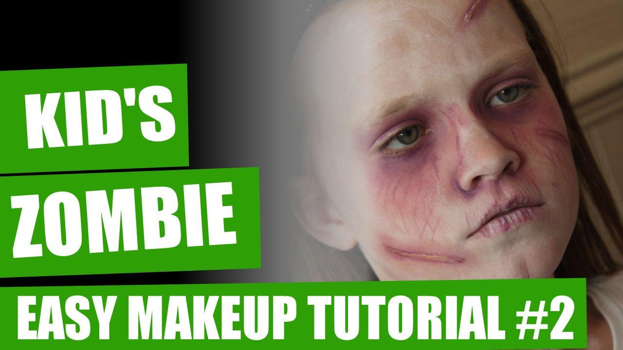 Zombie makeup tutorial for kids
