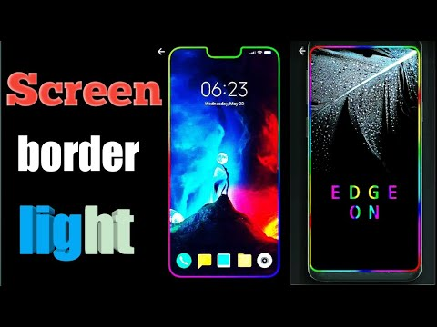 How to Use Border Screen Light in Android Mobile - Myhiton