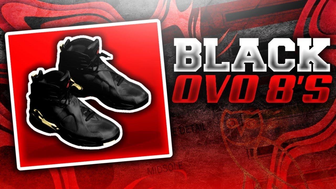 NBA 2K18 SHOE CREATOR TUTORIAL HOW TO MAKE AIR JORDAN 8 BLACK OVO DRAKE'S  SHOES OVO 8S BLACK IN 2K18