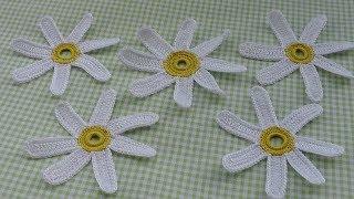 Как вязать ромашку крючком - урок вязания для начинающих - How to crochet camomile