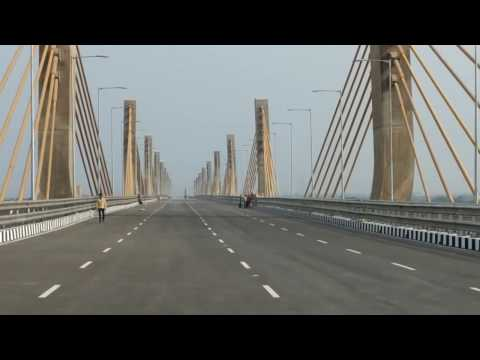 Bharuch new cable bridge.....opening video (udghatan)