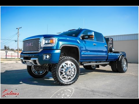 2015 GMC Sierra 3500 Welding RIG kills it on 24' American Forces, straight piped and tuned!