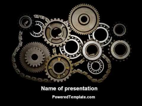 Mechanical wheels powerpoint template by poweredtemplate youtube mechanical wheels powerpoint template by poweredtemplate toneelgroepblik Images