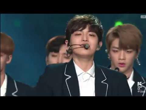 [170821] Wanna One (워너원) - Never (네버) + Nayana (나야나)  at KCON LA 2017