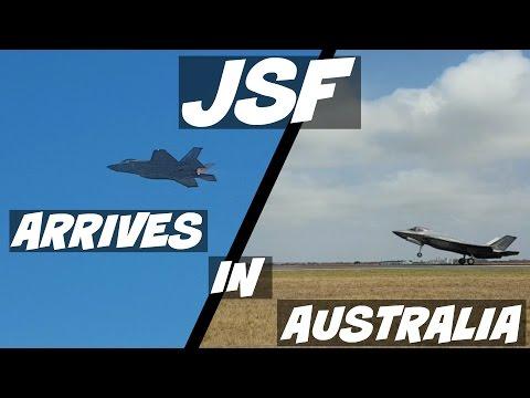Australian International Airshow 2017 - F35-A Joint Strike Fighter arrives in Australia