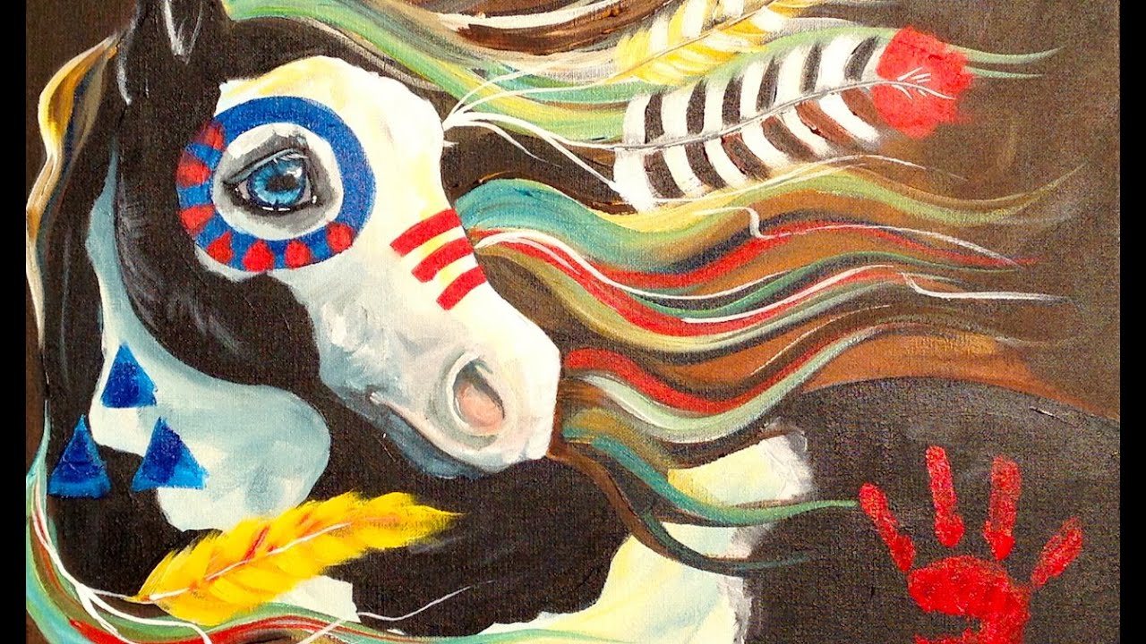 Native American Acrylic Paintings