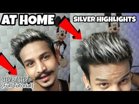 How To Highlight Silver Grey Hair (At Home) IN HINDI | PLATINUM HAIR COLOR AT HOME | Ratan Singh