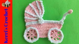 Crochet Pram Tutorial - Crochet Applique Tutorials