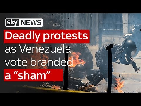 "Deadly protests as Venezuela vote branded a ""sham"""