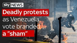 Deadly protests as Venezuela vote branded a