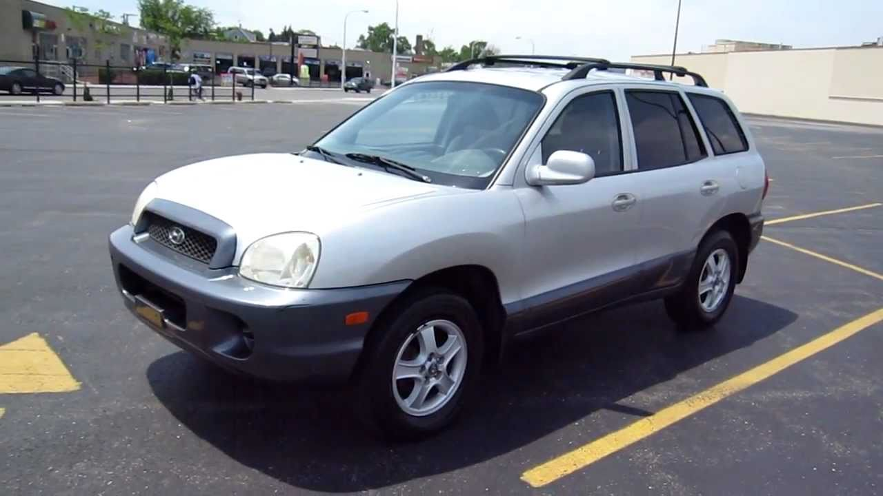 2003 hyundai santa fe for sale chicago youtube. Black Bedroom Furniture Sets. Home Design Ideas