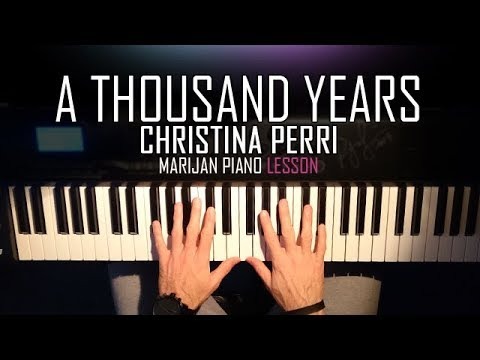 How To Play: Christina Perri - A Thousand Years | Piano Tutorial Lesson + Sheets