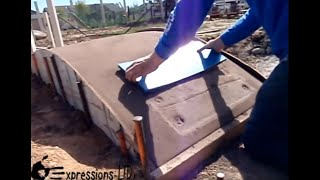 Making A Concrete Bridge With Plank Stamp