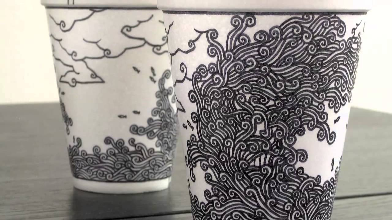 Foam Cup Art By Boey Youtube