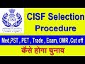 #CISF Selection Procedure Physical Tests to PET, PST, Trade, Exam Pattern , Marks